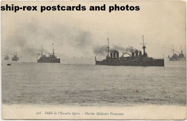 French Navy warships, postcard (c)